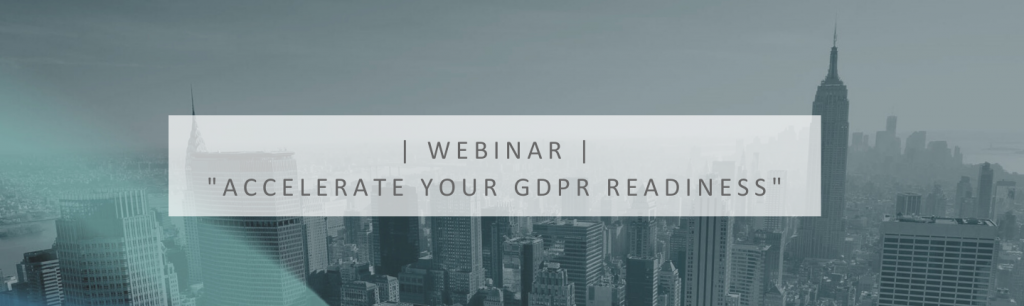 Accelerate your GDPR readiness webinar