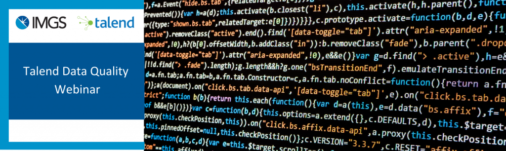 Talend Data Quality Webinar